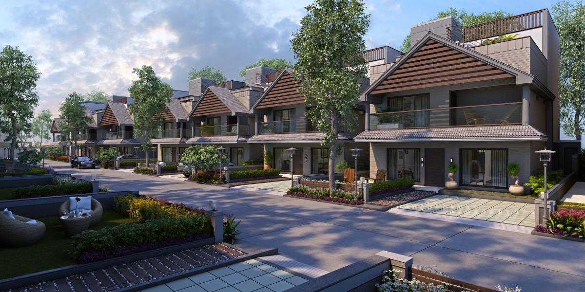 4BHK Luxury VILLA @ GOTRI – SEVASI ROAD .